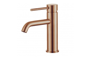 basin mixer Cherry, brushed rose gold