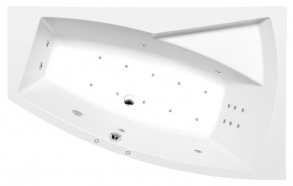 EVIA R HYDRO-AIR hydromassage Bath tub, 160x100x47cm, white