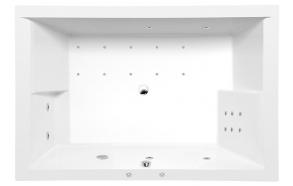 DUPLA HYDRO-AIR hydromassage Bath tub, 180x120x54 cm, white