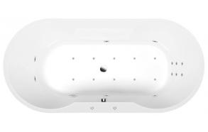 IO HYDRO-AIR hydromassage Bath tub, 180x85x49 cm, white