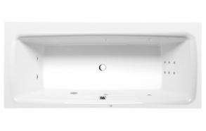 massaaživann Kvadra Hydro, 170x80x47 cm, valge