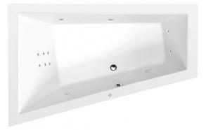 TRIANGL L HYDRO hydromassage Bath tub, 180x120x50 cm, white