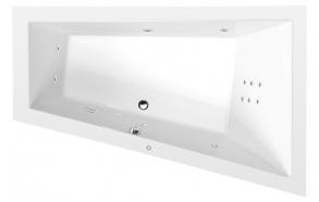 TRIANGL R HYDRO hydromassage Bath tub, 180x120x50 cm, white