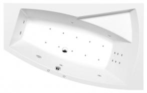 EVIA R HYDRO-AIR hydromassage Bath tub, 170x100x47cm, white