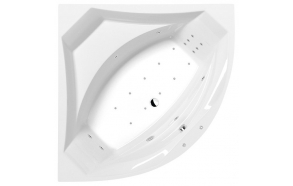 ROSANA HYDRO-AIR hydromassage Bath tub, 150X150x49cm, white