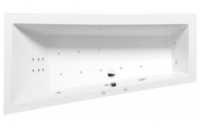 ANDRA L HYDRO-AIR hydromassage Bath tub, 180x90x45 cm, white