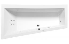 ANDRA L HYDRO hydromassage Bath tub, 180x90x45 cm, white