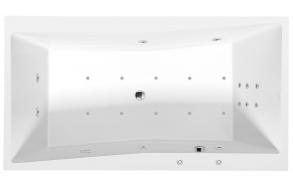 QUEST HYDRO-AIR hydromassage Bath tub, 180x100x49 cm, white