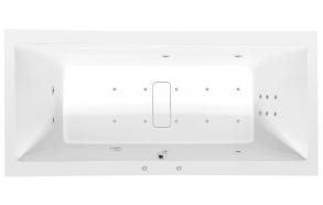 MARLENE HYDRO-AIR hydromassage Bath tub, 200x90x48 cm, white