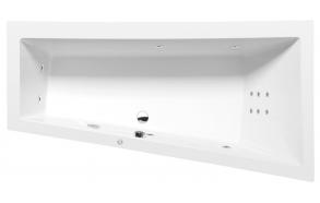 ANDRA R HYDRO hydromassage Bath tub, 170x90x45 cm, white