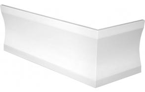 CLEO 170x75 L-corner panel 59cm, white (04811)