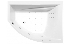 TANDEM  R HYDRO-AIR hydromassage Bath tub, 170x130x50 cm, white