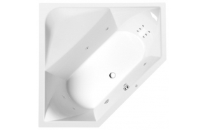FLOSS HYDRO hydromassage Bath tub, 145X145x50cm, white