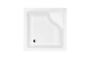 Acrylic shower tray Gori 90x90x24 cm, white, siphon not included