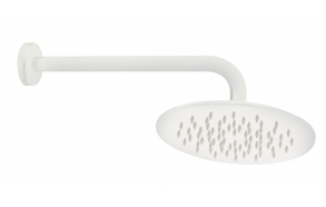 ceiling arm 30 cm with head shower 20 cm, mat white