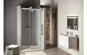 VOLCANO  Shower Door 1400 mm, clear glass