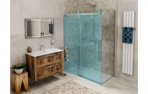 VOLCANO  Shower wall 800 mm, clear glass