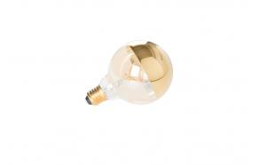 Bulb Globe Mirror Gold