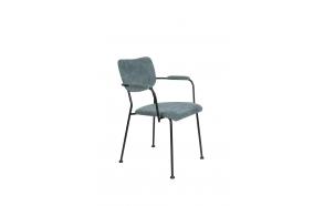 käetugedega tool Benson, Grey Blue
