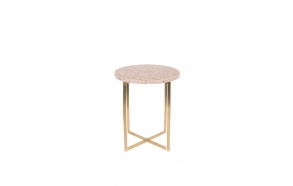 Side Table Luigi Round Pink