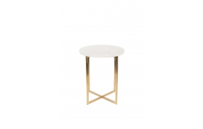 Side Table Luigi Round White