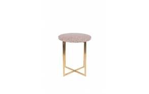Side Table Luigi Round Dark Red