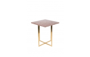 Side Table Luigi Square Dark Red