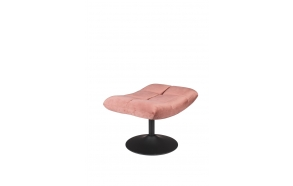 Hocker Bar Velvet Old Pink