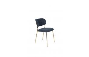 Chair Jolien Gold/Dark Blue