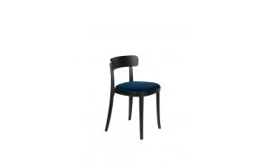 Chair Brandon Black/Dark Blue