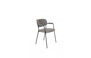 Armchair Jolien Black/Grey