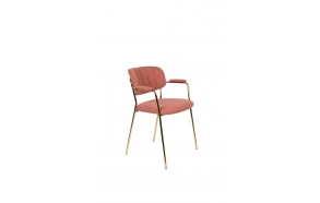 Armchair Jolien Gold/Pink