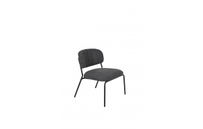 Lounge Chair Jolien Black/Dark Grey
