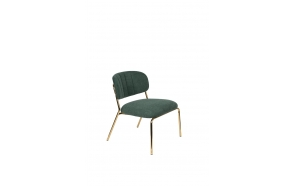 Lounge Chair Jolien Gold/Dark Green