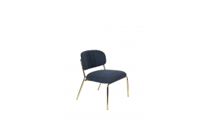 Lounge Chair Jolien Gold/Dark Blue