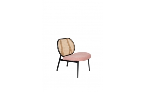 Lounge Chair Spike Natural/Pink