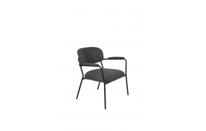 Lounge Chair Jolien Arm Black/Dark Grey