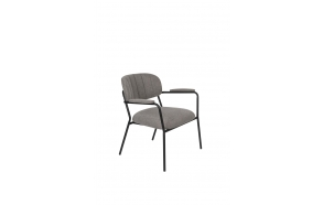 Lounge Chair Jolien Arm Black/Grey