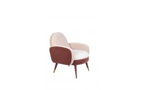 Lounge Chair Sam Pink/White FR