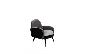Lounge Chair Sam Black/Grey FR