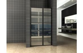 Horizon recess doors R/L with fixed part 90cm 8mm NANO