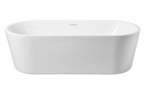 Libero freestanding acrylic bathtub 178 x 80 x 58.5 cm, mat white