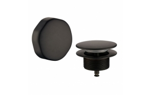 button / plug bath overflow comb. Matt black