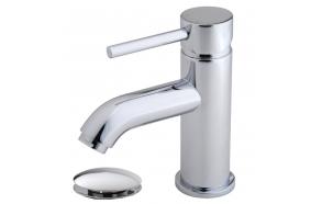 Cadans KIWA basin mixer low chrome, incl. click-clack