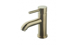 Cadans KIWA basin mixer low brushed brass, without click-clack