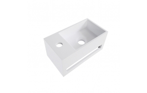 Julia Solid Surface washbasin 35 x 20 x 16 cm mat white, left