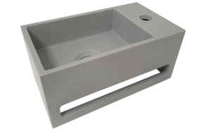 Julia Solid Surface washbasin 35 x 20 x 16 cm concrete look, right
