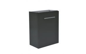 cabinet under washbasin 40x21x50 cm, glossy grey