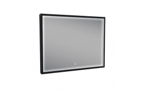 Rectangular LED mirror 800x600 mat black, antifog