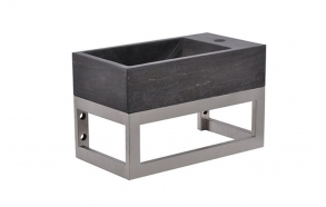 stainless steel basin console 40x22x15 cm